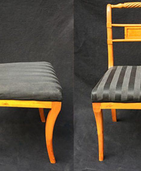 Sechs Biedermeier Stühle Birke