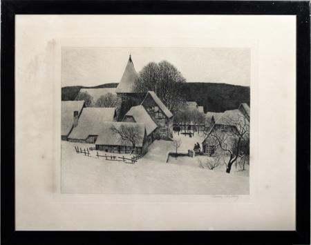 """""""Weihnachtsmorgen"""" von Franz Hecker"""