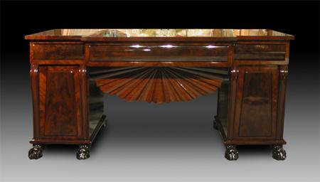 Mahagoni Schreibtisch