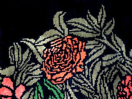 """Gunther Lambert: Seidenteppich """"Rosegarden"""""""