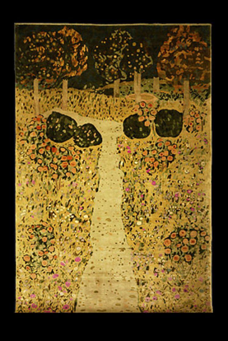 """Gunther Lambert: Seidenteppich """"Klimt Garden"""""""