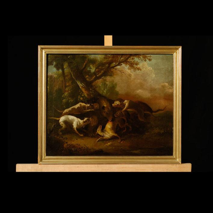 Gemälde von Johann Heinrich Roos, Öl auf Leinwand, 1648