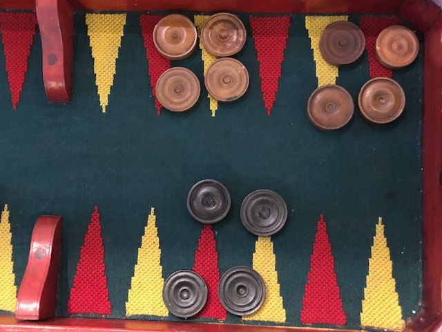 Biedermeier Spieltisch Kyrillische Birke